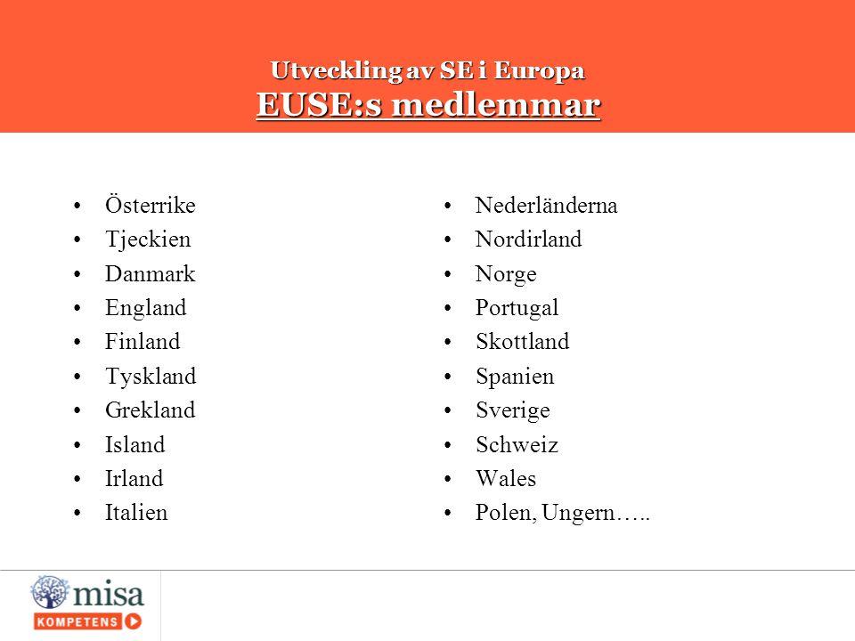 Utveckling av SE i Europa EUSE:s medlemmar