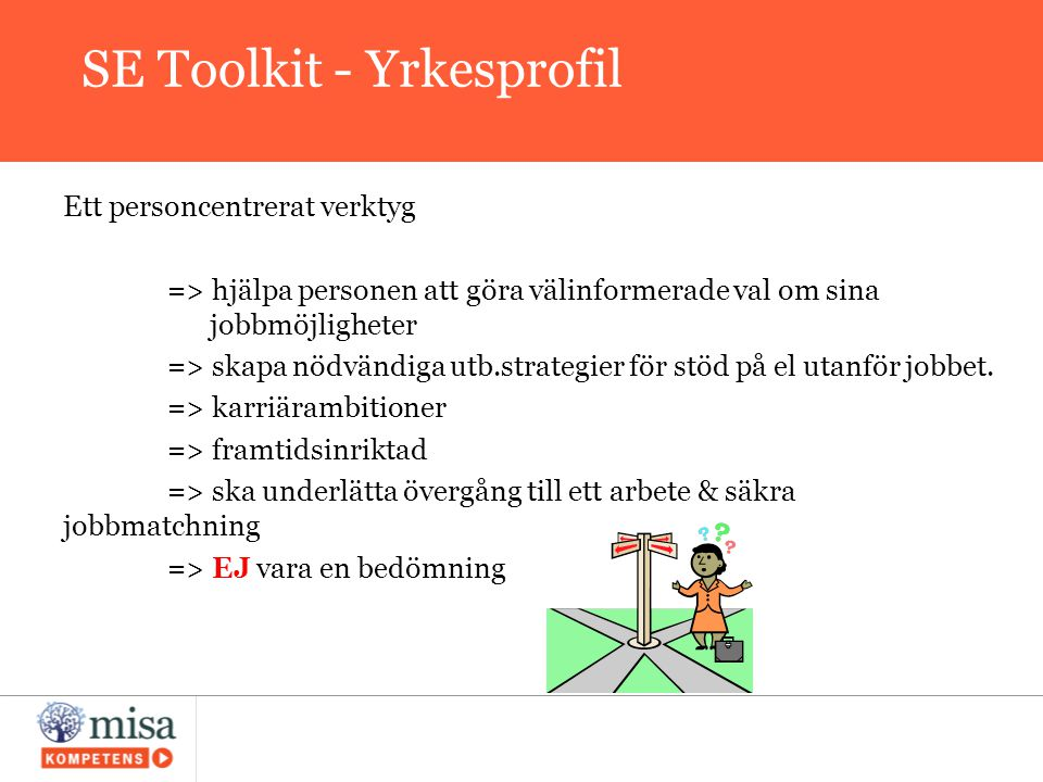 SE Toolkit - Yrkesprofil