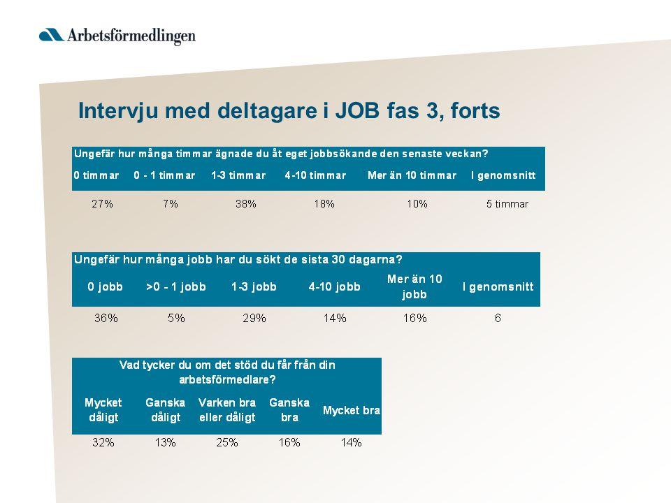 Intervju med deltagare i JOB fas 3, forts