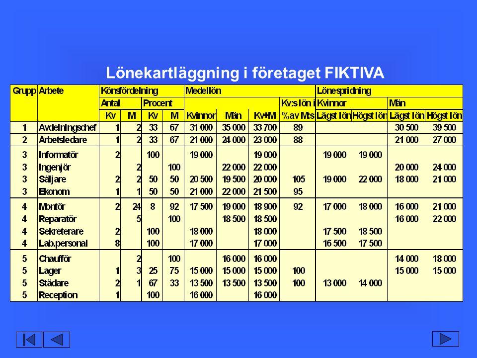 Lönekartläggning i företaget FIKTIVA