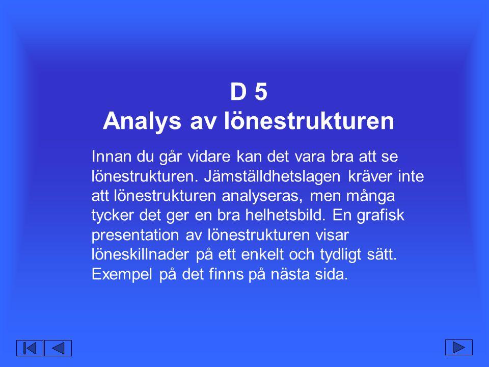 D 5 Analys av lönestrukturen