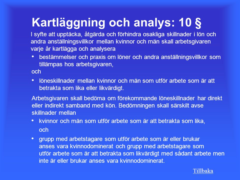 Kartläggning och analys: 10 §