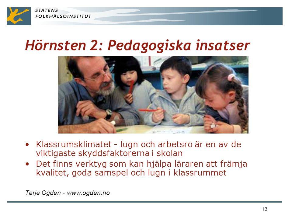 Hörnsten 2: Pedagogiska insatser