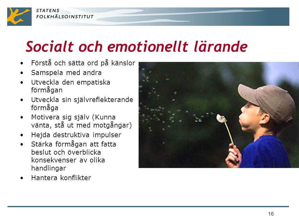 Socialt och emotionellt lärande