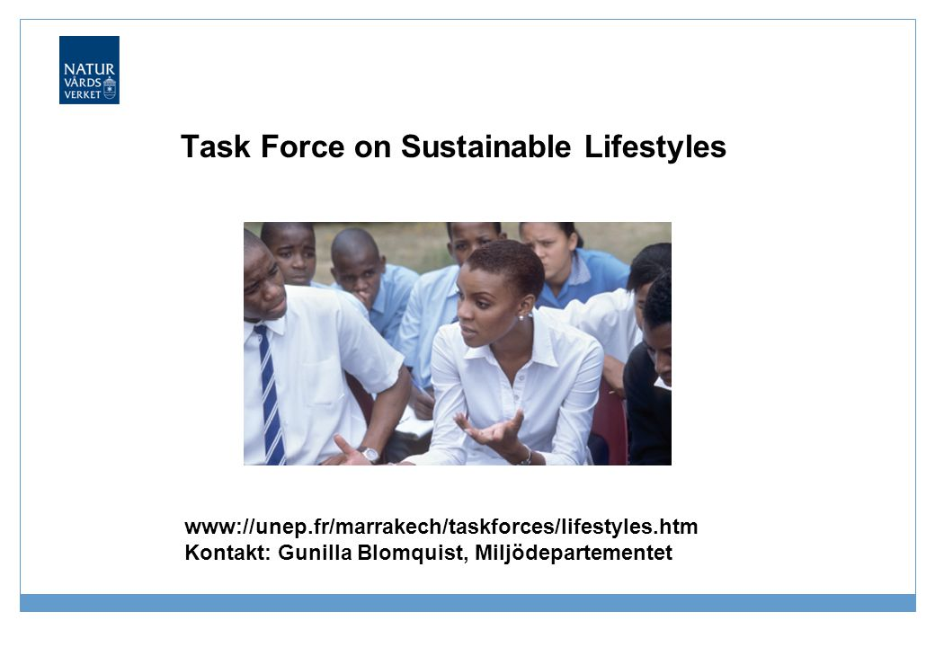 Task Force on Sustainable Lifestyles