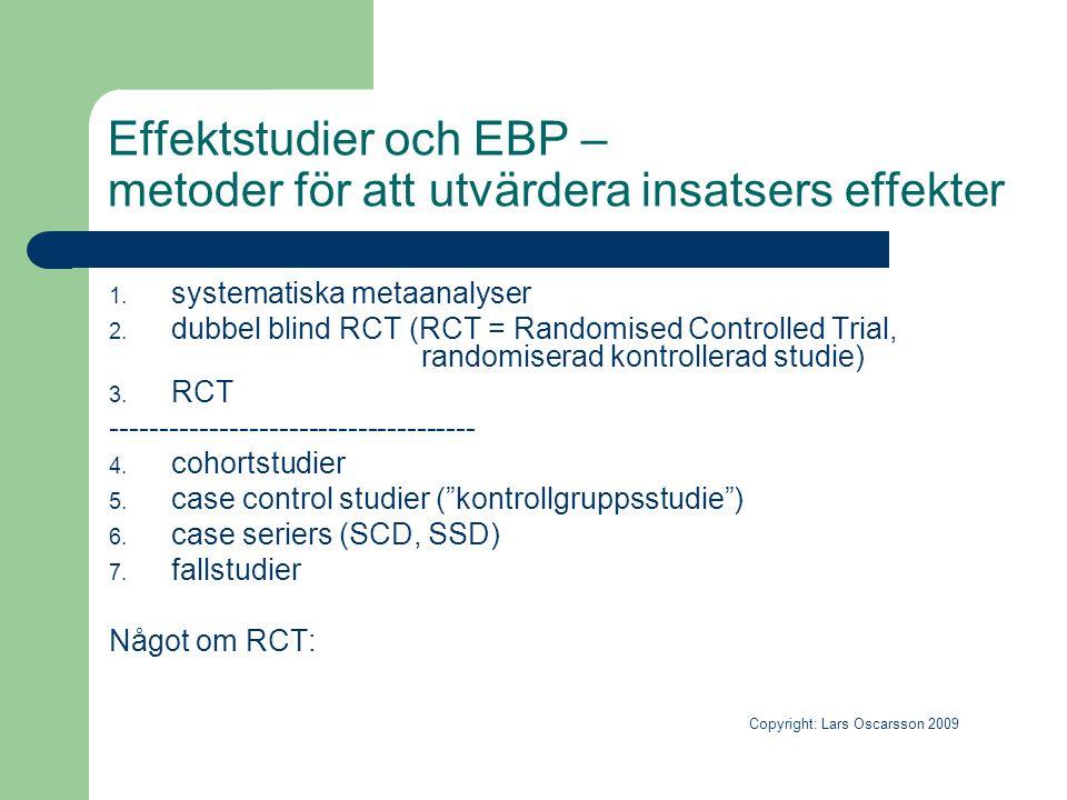 Effektstudier och EBP – metoder för att utvärdera insatsers effekter