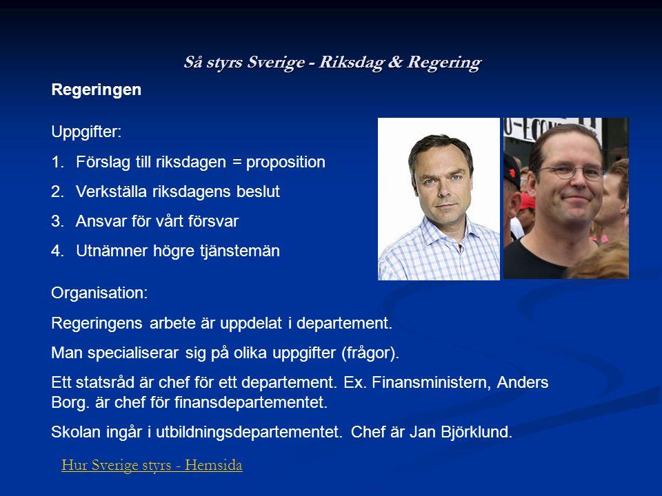 Så styrs Sverige - Riksdag & Regering