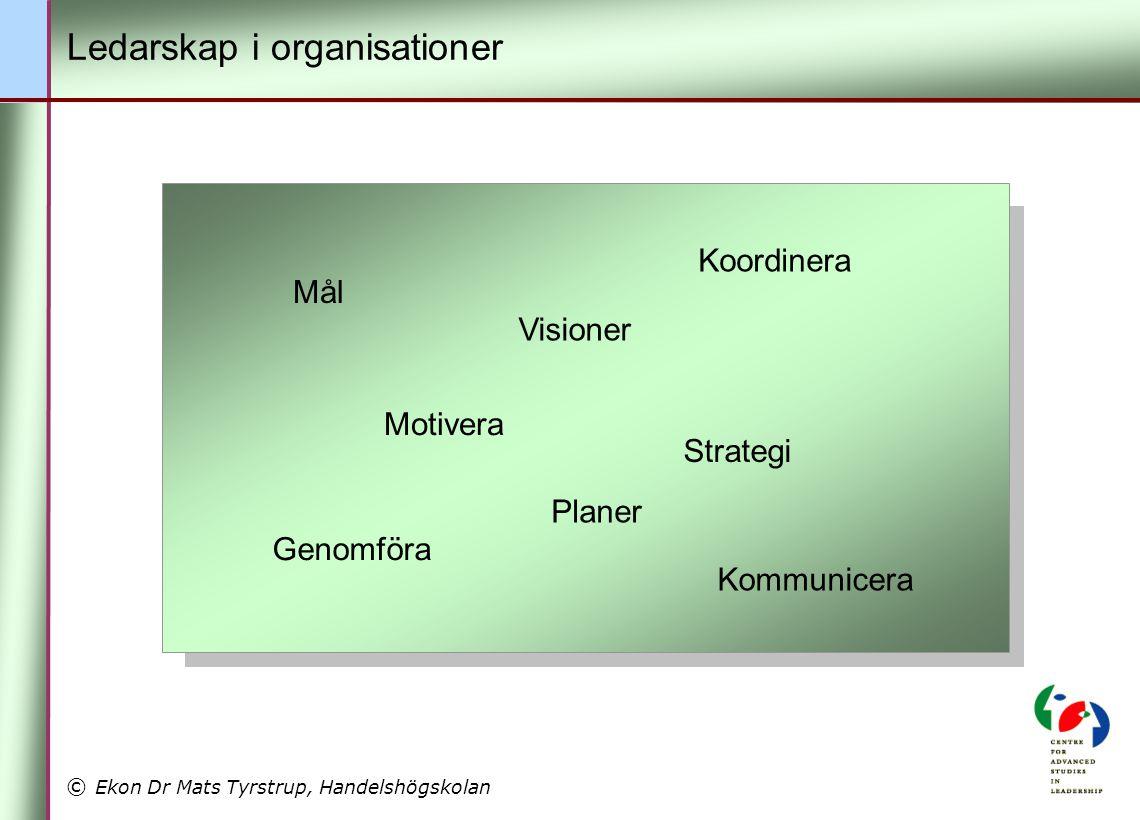 Ledarskap i organisationer