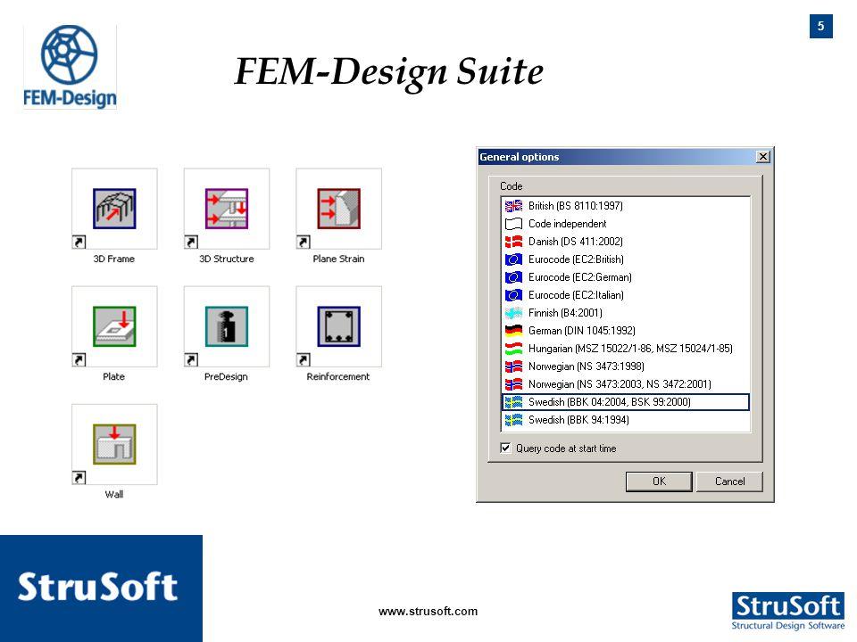 FEM-Design Suite FEM-Design Suite. www.strusoft.com januari 2006