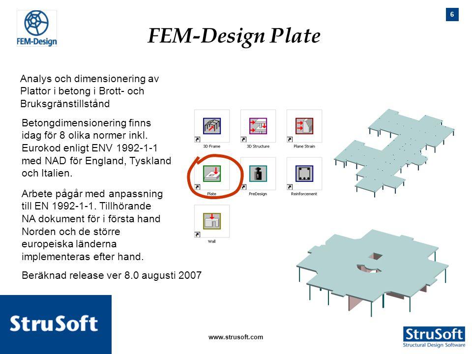 FEM-Design Plate Analys och dimensionering av