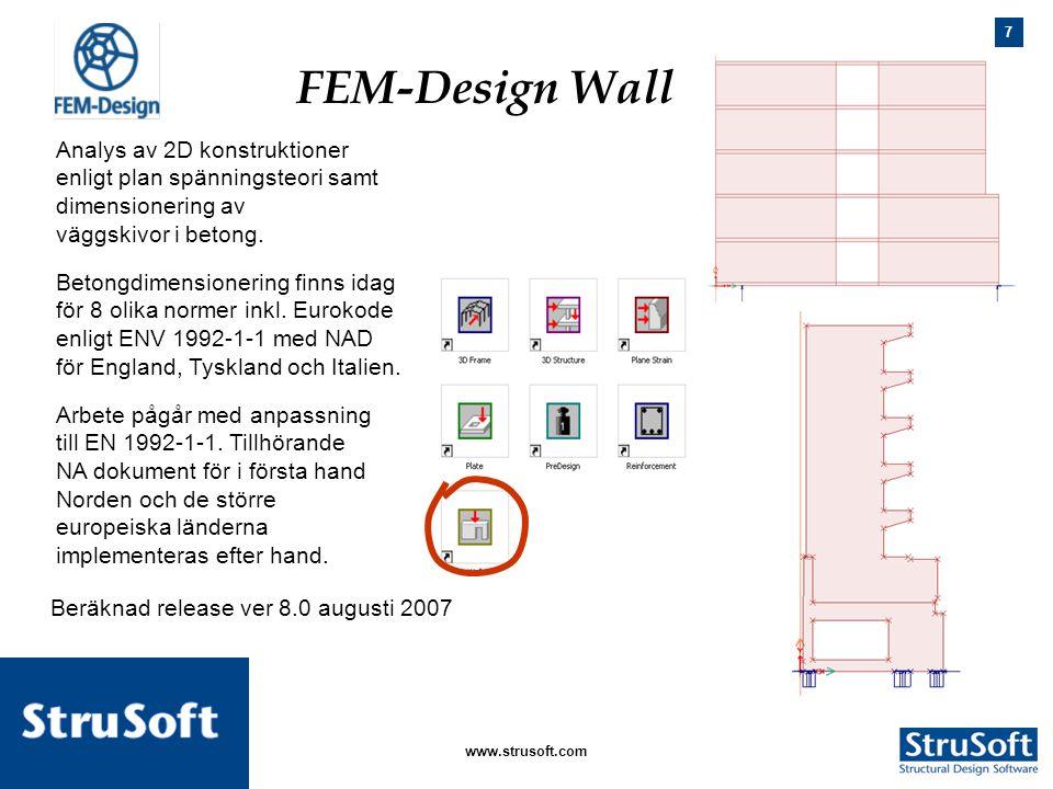 FEM-Design Wall Beräknad release ver 8.0 augusti 2007