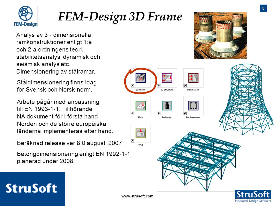 FEM-Design 3D Frame Analys av 3 - dimensionella