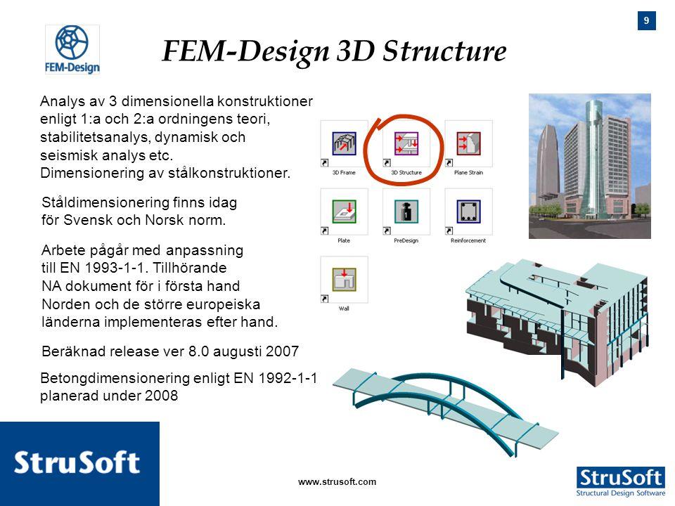 FEM-Design 3D Structure