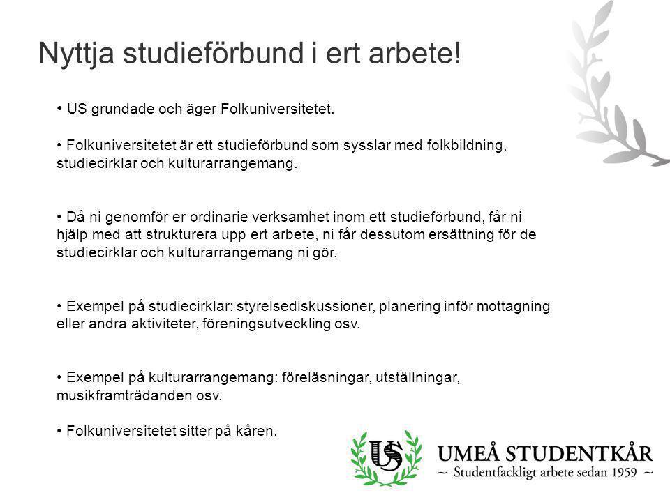 Nyttja studieförbund i ert arbete!