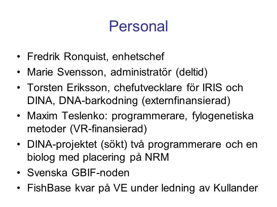 Personal Fredrik Ronquist, enhetschef