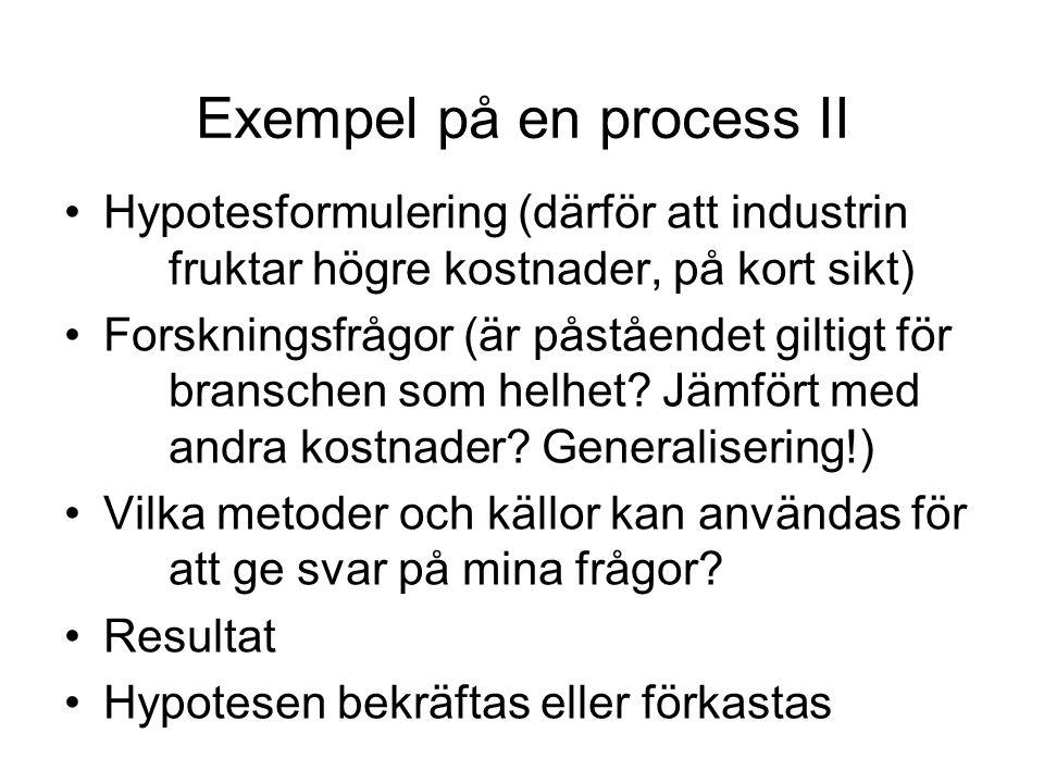 Exempel på en process II