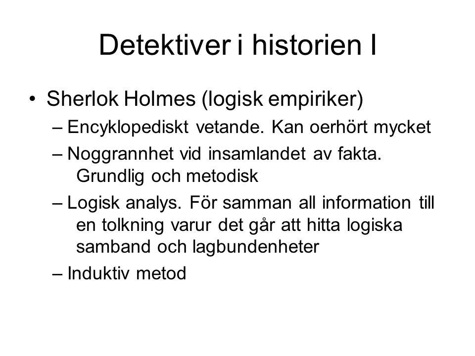 Detektiver i historien I