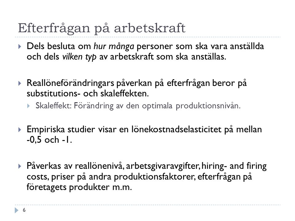 Efterfrågan på arbetskraft