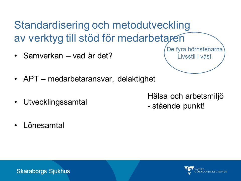 Standardisering och metodutveckling av verktyg till stöd för medarbetaren