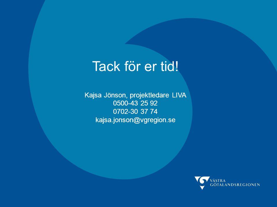 Kajsa Jönson, projektledare LIVA