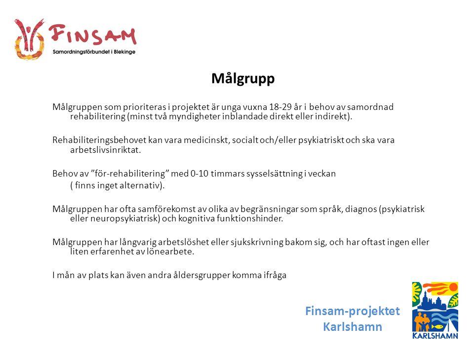 Målgrupp Finsam-projektet Karlshamn