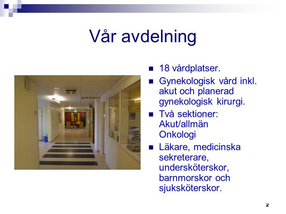 Vår avdelning 18 vårdplatser.