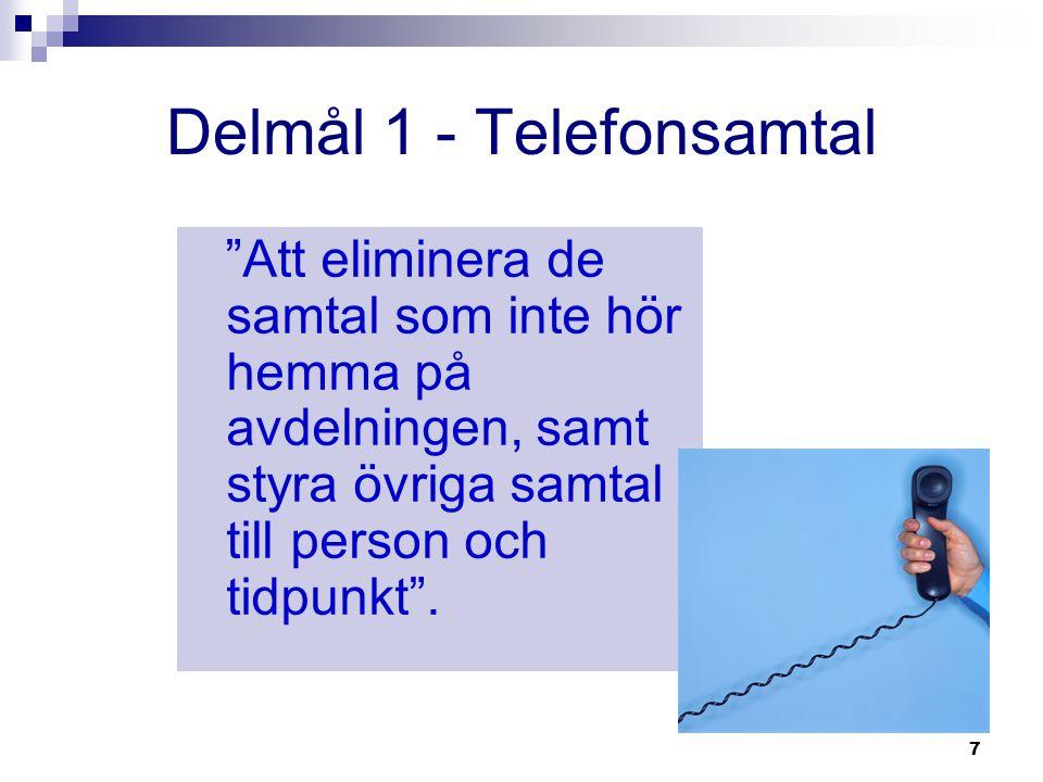 Delmål 1 - Telefonsamtal