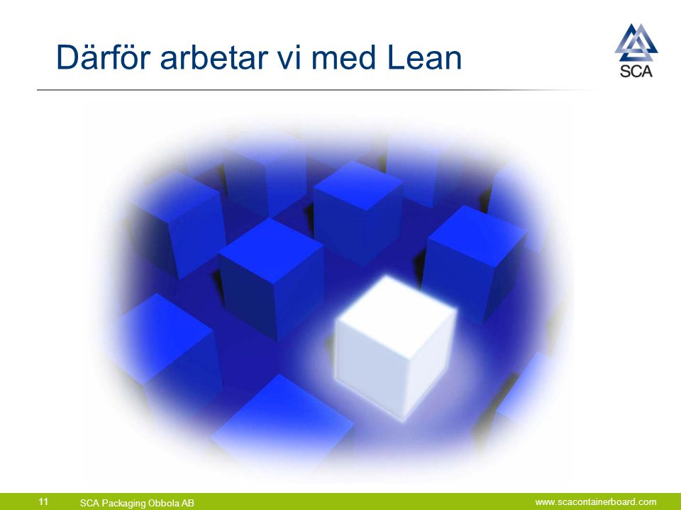 Därför arbetar vi med Lean