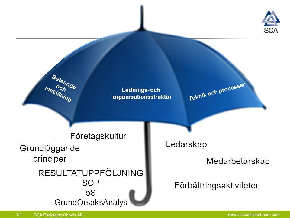 Beteende och inställning Lednings- och organisationsstruktur