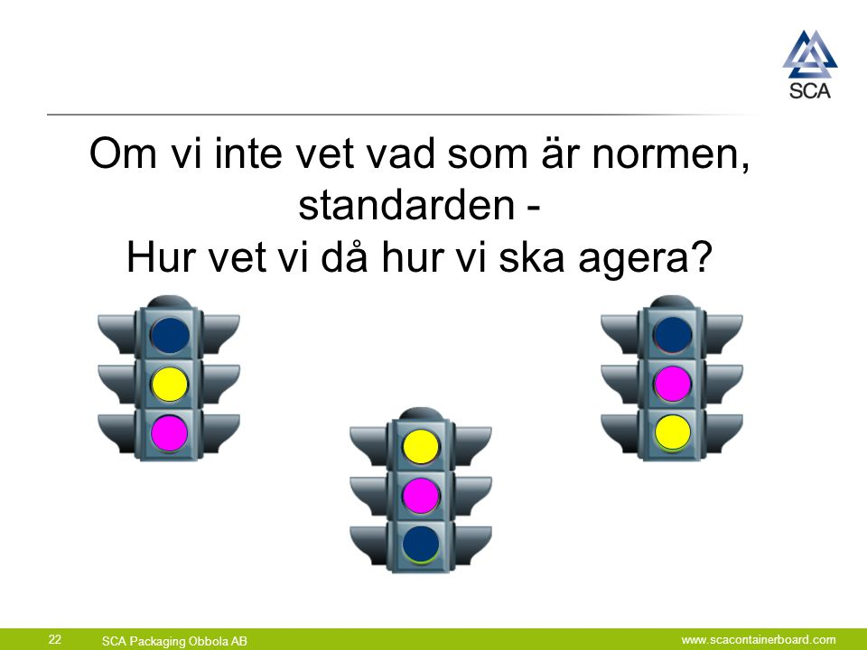 Om vi inte vet vad som är normen, standarden -