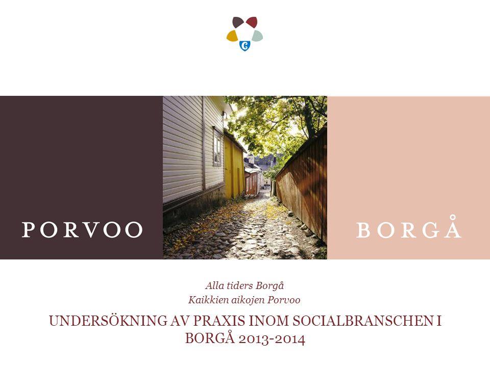 UNDERSÖKNING AV PRAXIS INOM SOCIALBRANSCHEN I BORGÅ 2013-2014