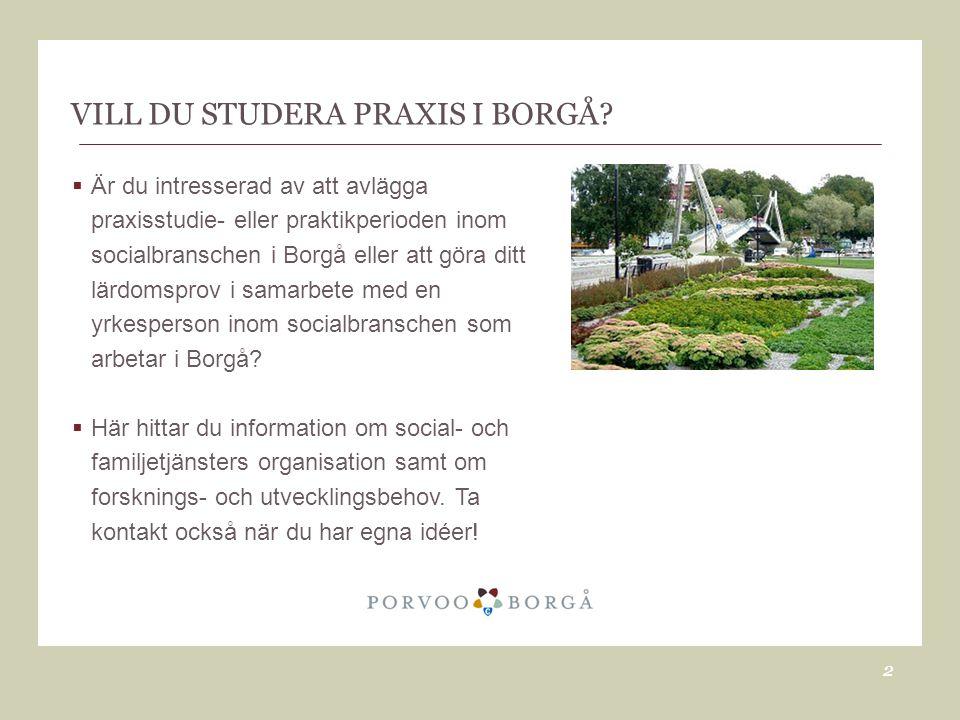 VILL DU STUDERA PRAXIS I BORGÅ