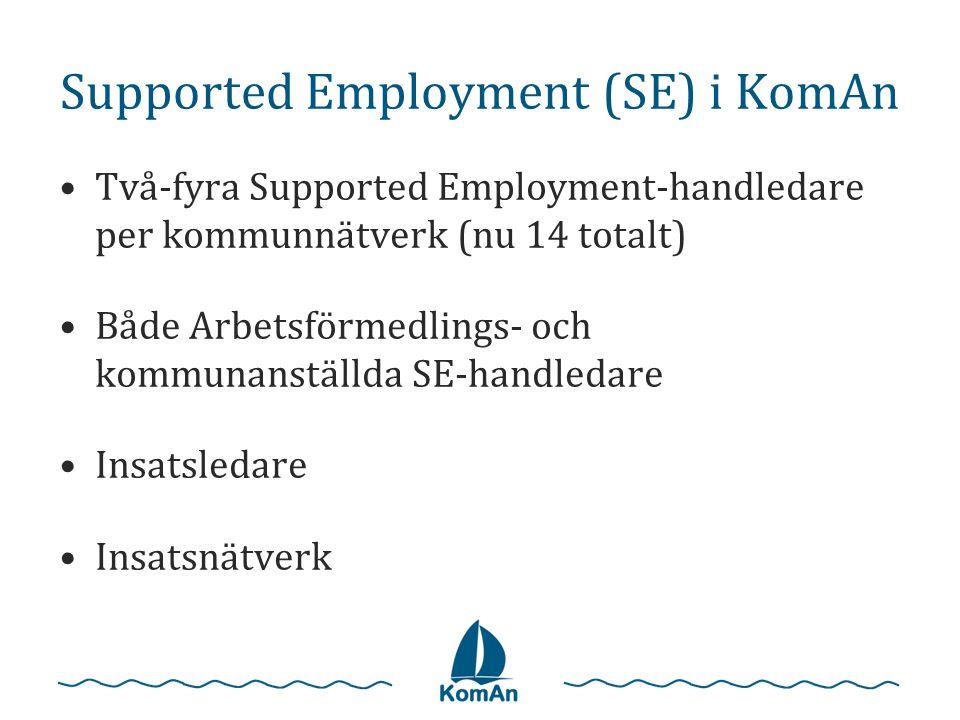 Supported Employment (SE) i KomAn