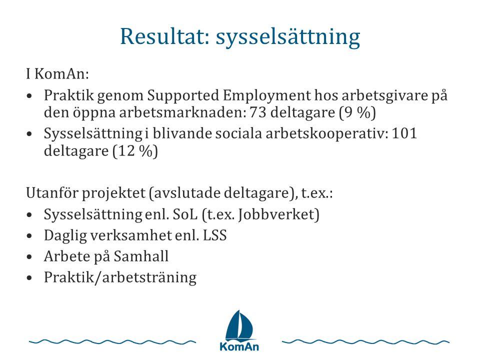 Resultat: sysselsättning