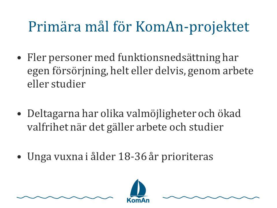 Primära mål för KomAn-projektet
