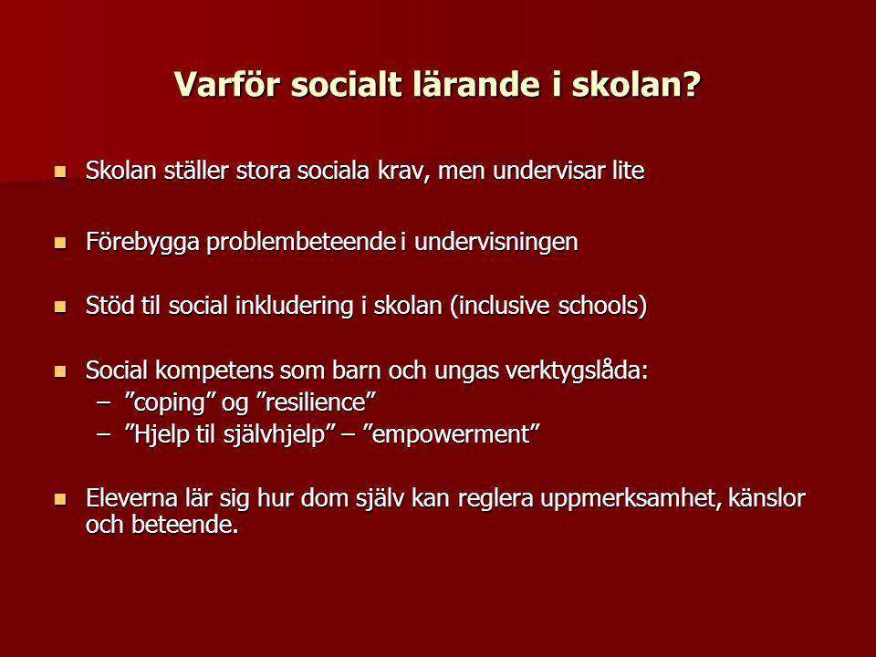 Varför socialt lärande i skolan