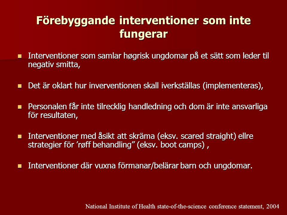 Förebyggande interventioner som inte fungerar