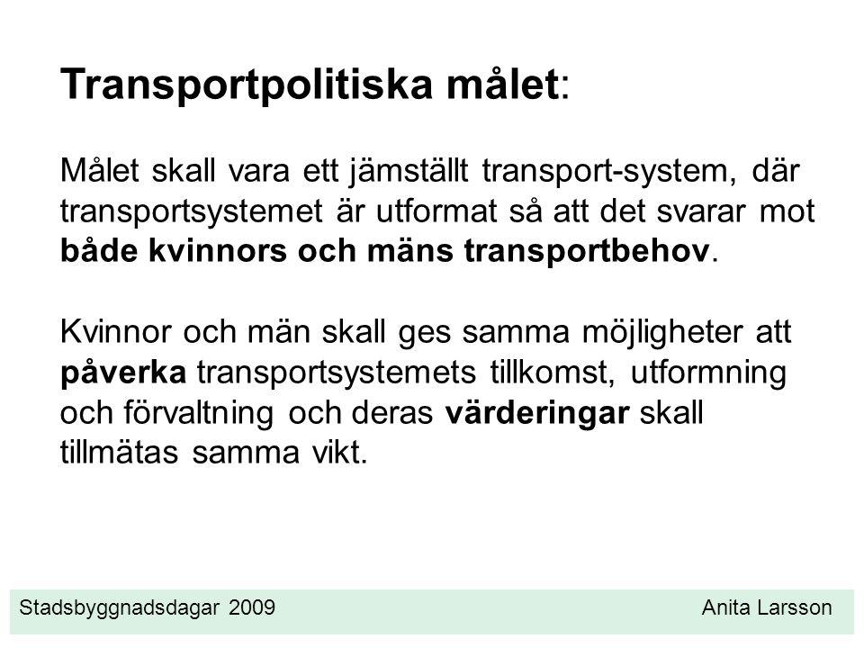 Transportpolitiska målet: