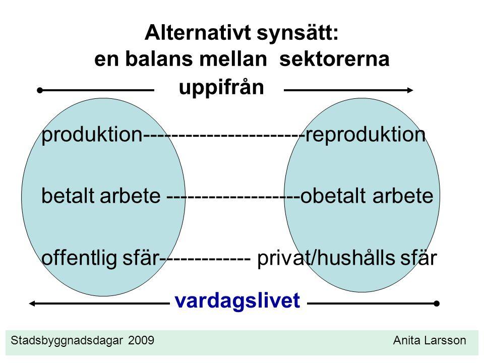 Alternativt synsätt: en balans mellan sektorerna
