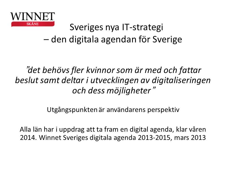 Sveriges nya IT-strategi – den digitala agendan för Sverige
