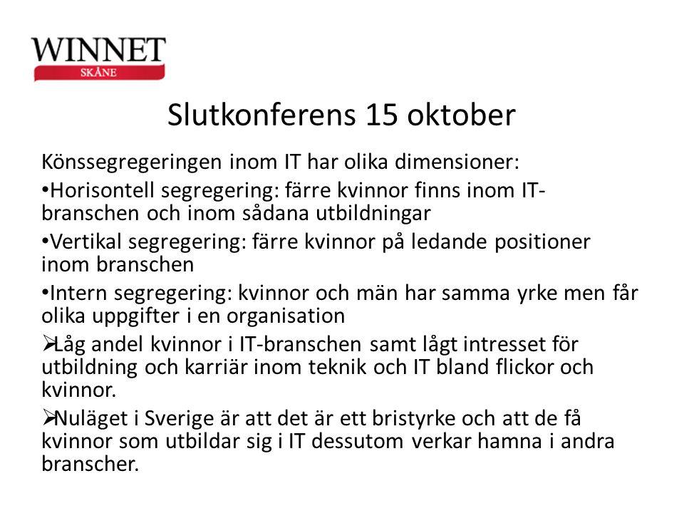 Slutkonferens 15 oktober