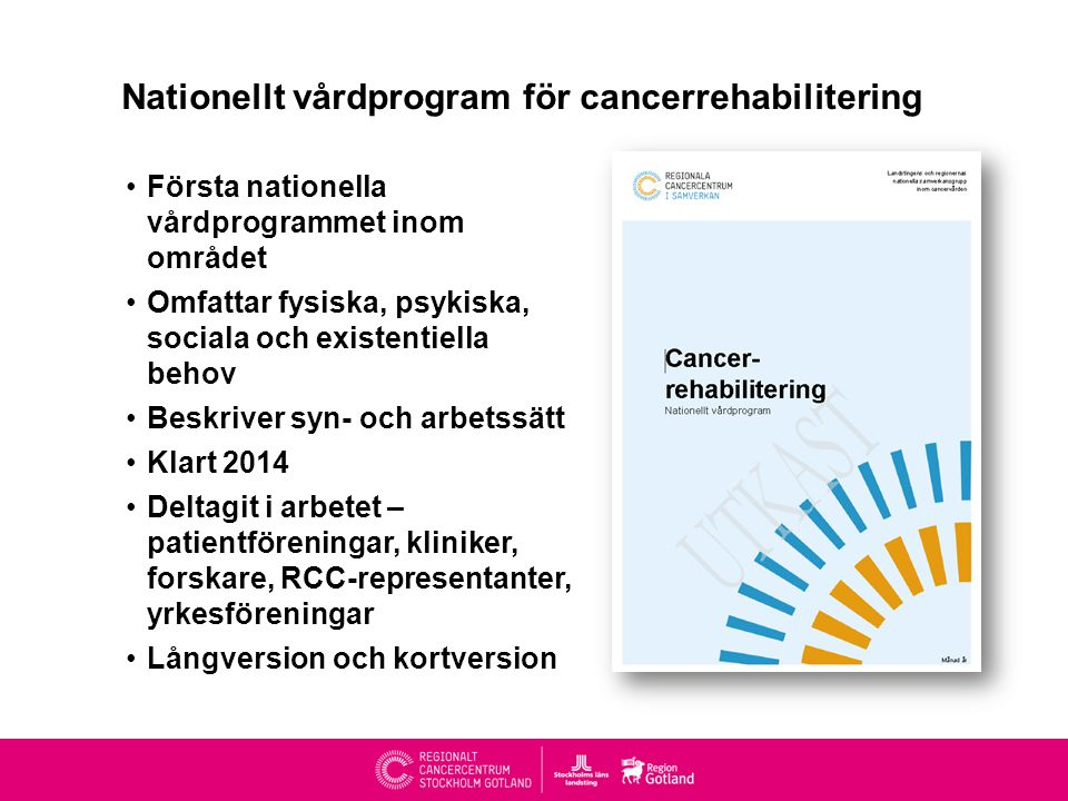 Nationellt vårdprogram för cancerrehabilitering