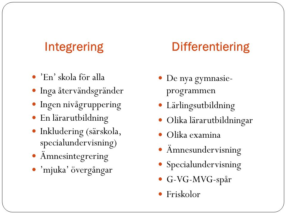 Integrering Differentiering
