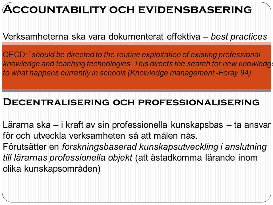 Accountability och evidensbasering