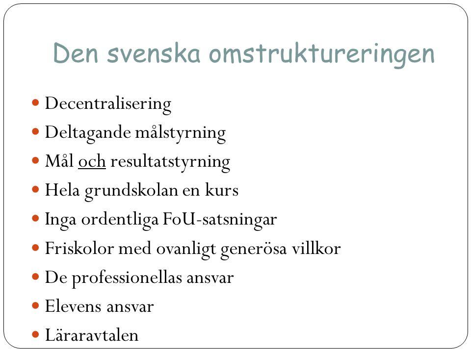 Den svenska omstruktureringen