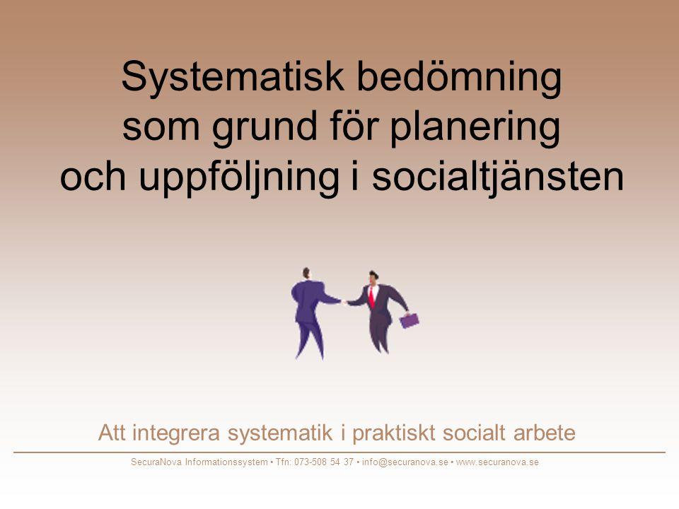 Att integrera systematik i praktiskt socialt arbete