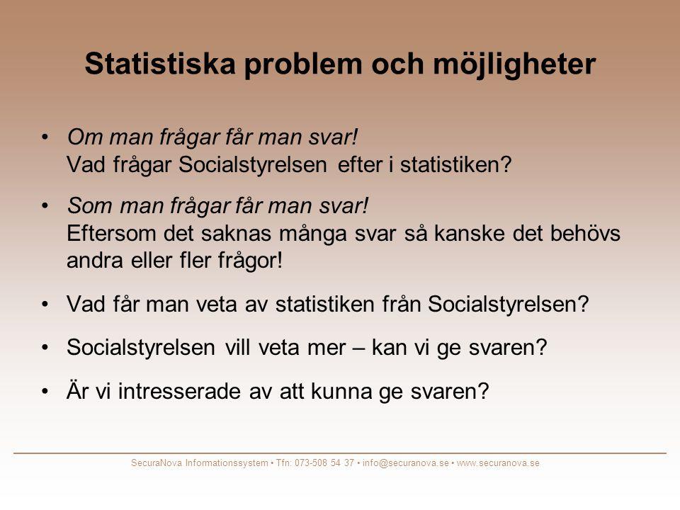 Statistiska problem och möjligheter