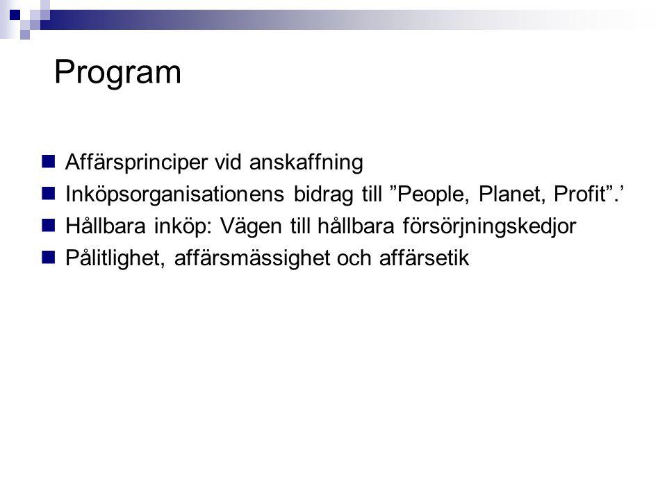 Program Affärsprinciper vid anskaffning