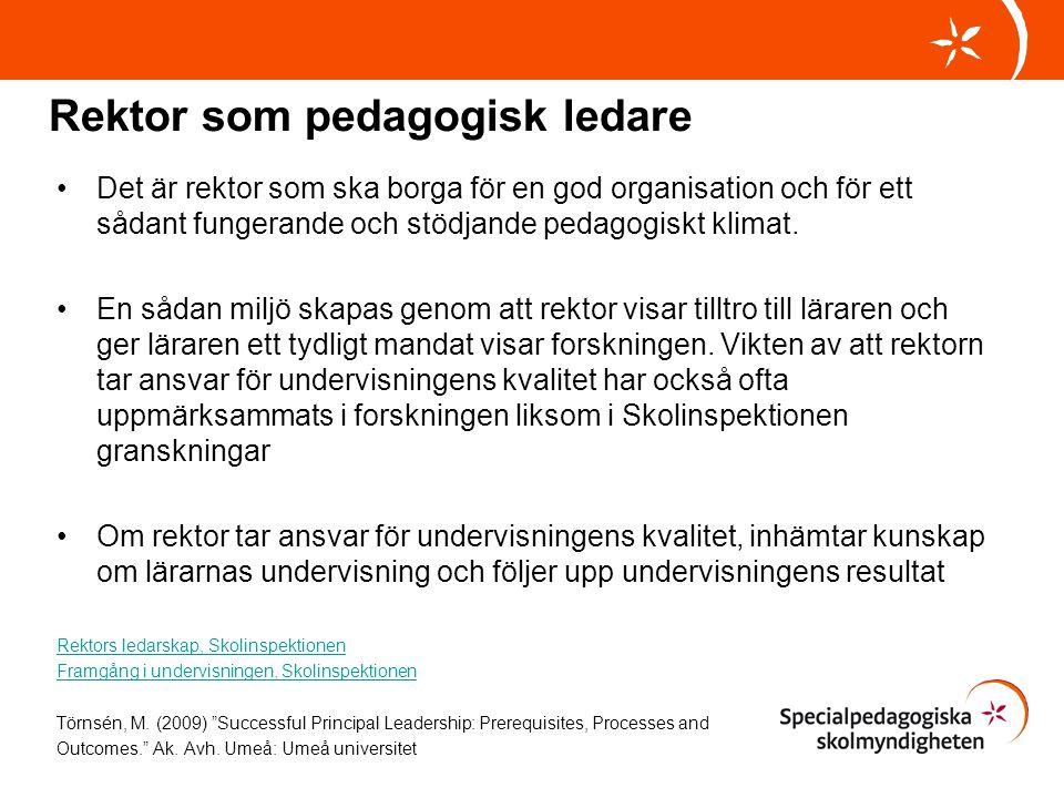 Rektor som pedagogisk ledare