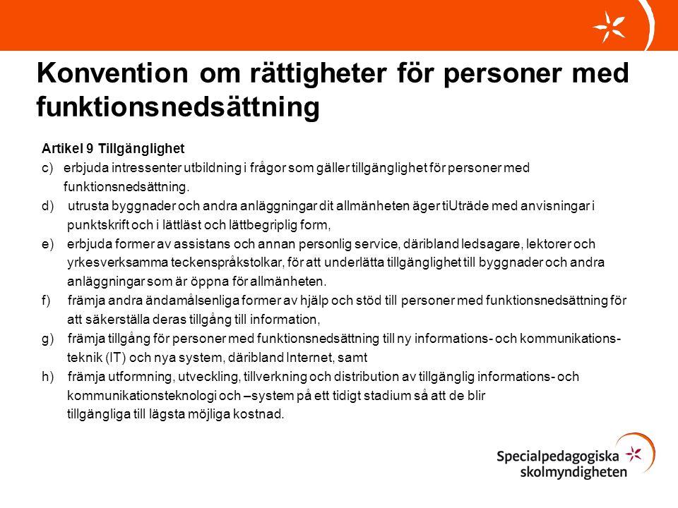 Konvention om rättigheter för personer med funktionsnedsättning